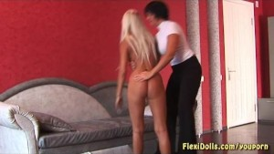 hot blonde flexi doll