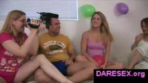 Amateur truth or dare game on
