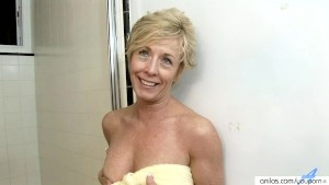 Shower Dildo Pleases Busty Anilos Chanel