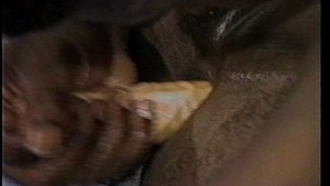Pounding his ass with my big black cock(clip)