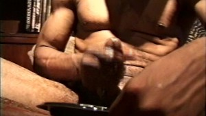 Large black cock shoots a big load - Encore_Productions
