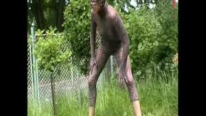 Ivanna outdoor in tight spandex (clip)
