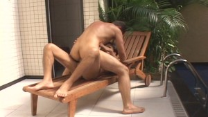 Anal pounding at the spa