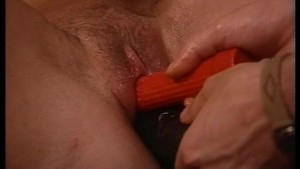 German brunette dildoed and fucked