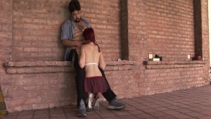 Redhead schoolgirl gives up her little pussy