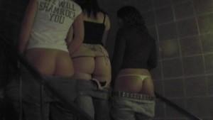 3 Girls Skinny Dipping in Hotel Pool pt 1