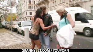 Granny pleases young stud