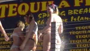 Hot Teens in Spring Break Wet Tshirt Contest