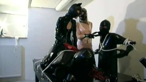 Tied up latex sub at their whim