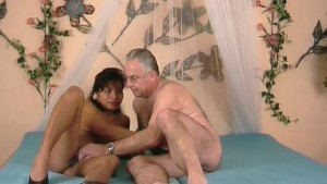 Lucky old guy gets to fuck a black chick