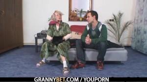 Grandma pleases a stranger