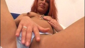 German redhead masturbates - Sascha Production