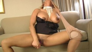Busty Asian Pleases Herself -