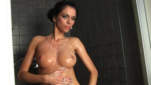 Skinny amateur Rita alone in the shower - CzechSuperStars