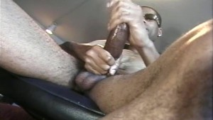 Cumshot from huge black cock