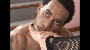 Vanessa gets her feet worshipped and strokes a big cock - Latin-Hot