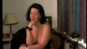 Chubby lady teases with her bo