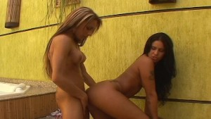 Two hot Latina chicks, ones go