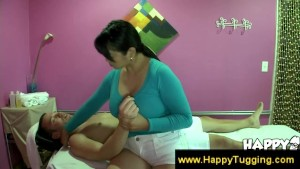 Busty masseuse get paid for services
