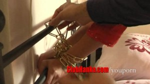 HOT blonde MILF chained