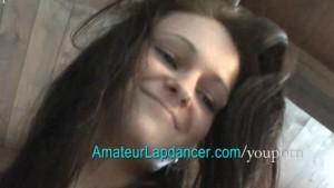Sexy brunette lapdancing