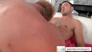 GayRoom Blonde Hottie Fucked