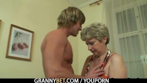 Old housewife gets nailed by a