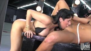 Sexy busty brunette lesbians d