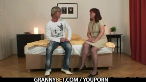 Granny tourist gets pounded