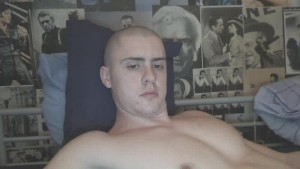 me naked jacking off in bed