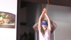 Hanka is hanged spanked and te