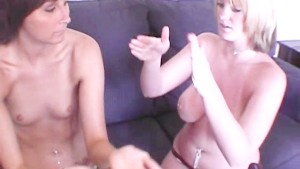 Real Girl s Teaching Each Other How to Use a Dildo Part 1