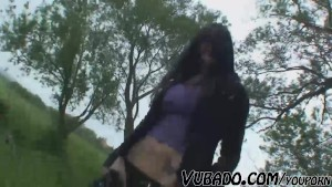 REAL COUPLE OUTDOOR BLOWJOB AND FUCK !!