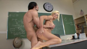 Horny Big-tit blonde school te