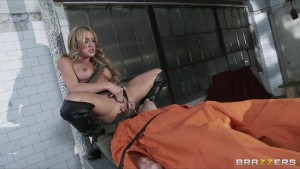 Horny squirting big-tit dirty blonde slut fucked hard by big-dick