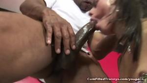 Shemale Jasmine Loves Jizz In Her Ass