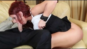 Redhead Brooklyn Lee Takes a C