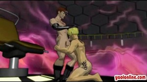 Animated hentai gays blowjob and fuck each other