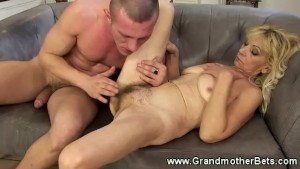 Hardcore granny takes young cock