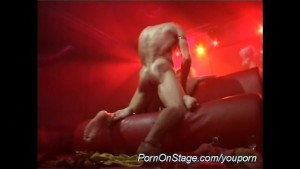 hot fuck on public show stage