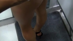 Hot anal fuck in a public toilet