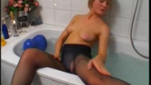Blonde amateur wife toying and