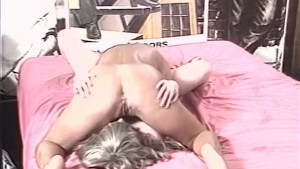 Girl on girl licking and dildo