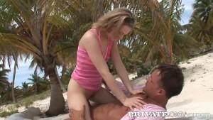 Private: Hard anal beach fuck