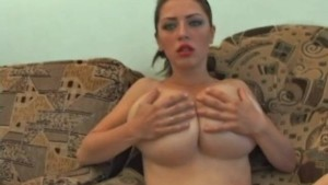 monster boobs alone at home