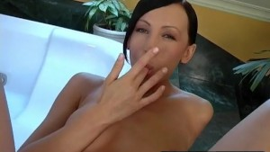 Brunette s Dildo Makes Her Scr