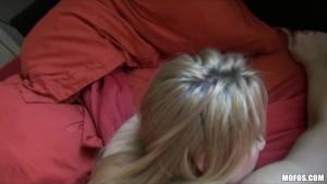 Big-booty blonde amateur Kaylee Evans is fucked hard from behind