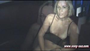 Sexy Suz Masturbating in Public Bar