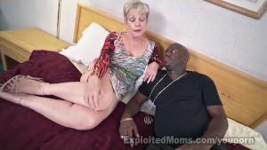 Mature Lady in Creampie Interracial Video