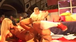 threesome porn on stage